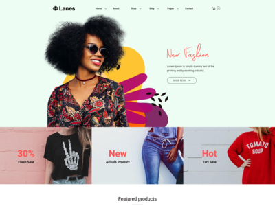 Lanes   Fashion Store Html Template