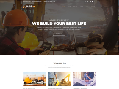 Buildup   Construction Agency Html Template