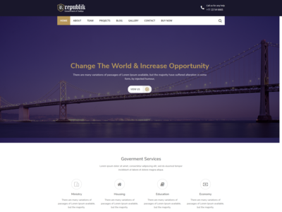 Republik   Government And Municipal Portal Wordpress Theme