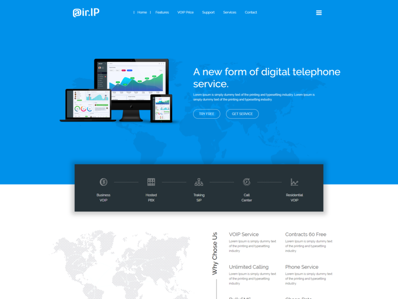 Airip   Voip  Telecom And Cloud Services Template responsive html5 bootstrap voip providers voip mobile voip business voice virtual phone call video conference video calling services route business pricing table network ip telephony ip phone dialer calls