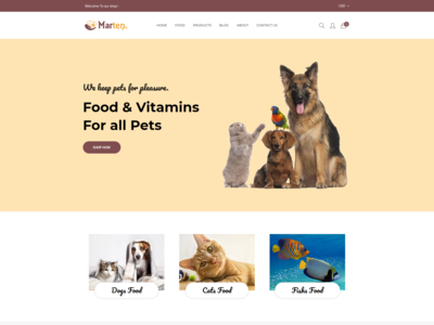 Marten   Pet Food  Pet Shop  Animal Care Shopify Theme