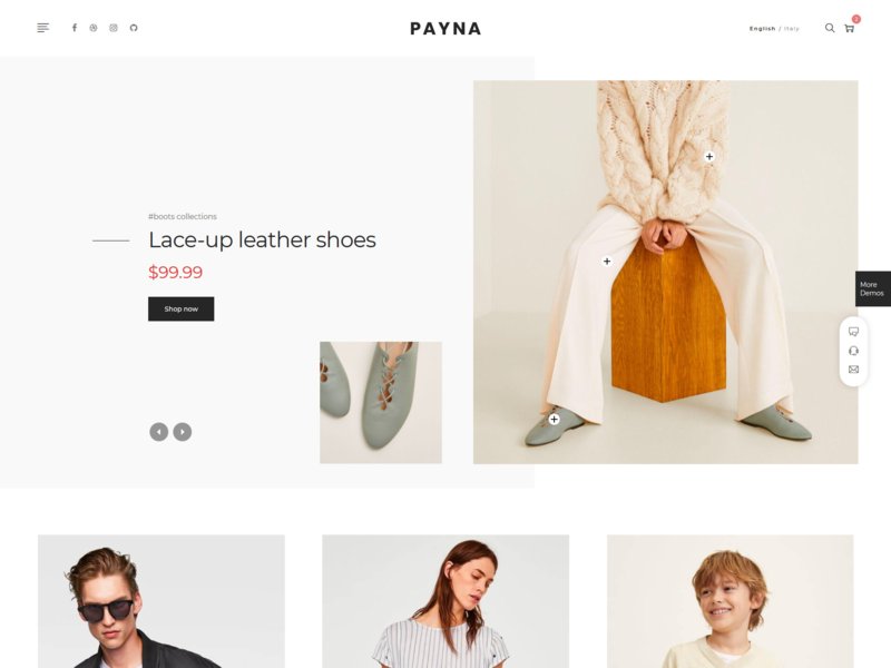 Payna - Minimal eCommerce HTML Template bootstrap html5 watch t-shirt responsive online shop office furniture modern minimalist furniture flower fashion ecommerce cosmetic clothing bootstrap 4 shop accessories