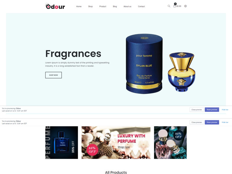 Odour - Perfume Store Shopify Theme bootstrap html5 shopify sections shopify ecommerce responsive perfume theme perfume store perfume shopify parfume oberlo modern fragrance shop fragrance drop shipping beauty aroma aliexpress