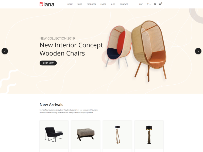 Diana   Furniture Shopify Theme bootstrap html5 wood furniture table sofa shopify responsive modern furniture luxury furniture interior store interior furniture shop interior design handmade furniture store furniture shop furniture chair