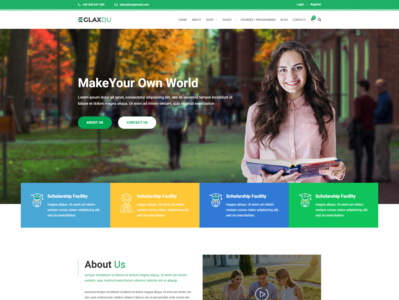 Glaxdu   Education HTML Template