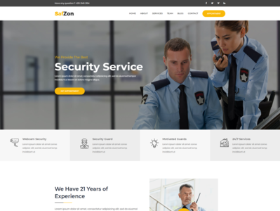 SafZon   Security Guard HTML Template