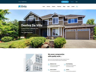 Ortiz - Real Estate HTML5 Template corporate responsive bootstrap search property rental real estate agent real estate property modern listing directory developer clean business building construction broker apartment