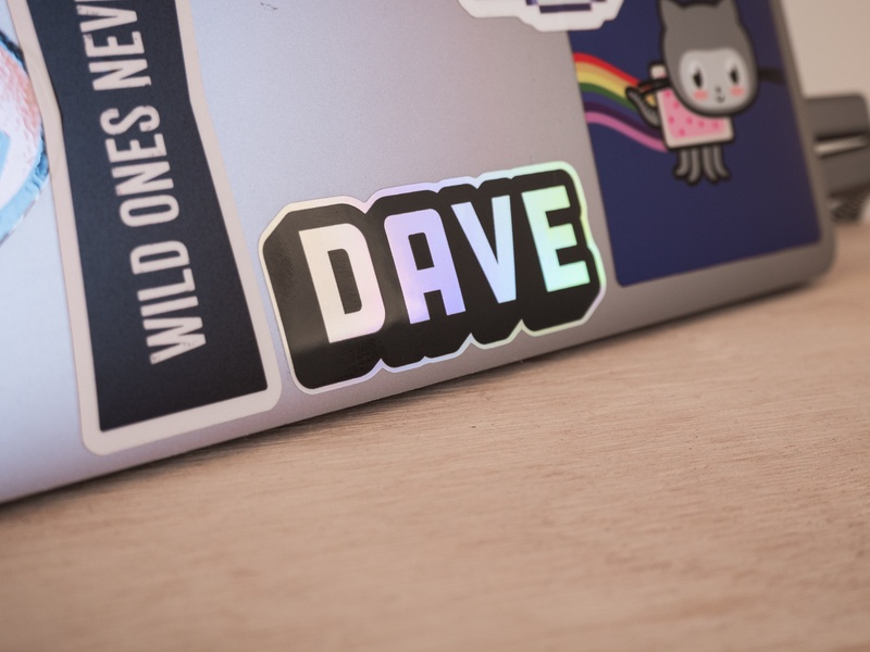 Shameless Self Promotion Sticker sticker design branding dave typography sticker