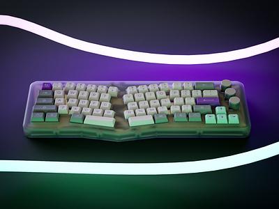 Hyperfuse blender 3d rendering 3d render keyboard 3d render