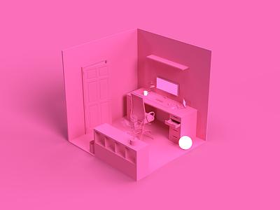 WIP: 3D Office illustration cgi design render 3d