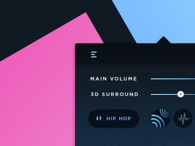 Boom 3D - Menu Bar Concept dribbble best shot creative app design mac app equaliser audio ui design boom audio
