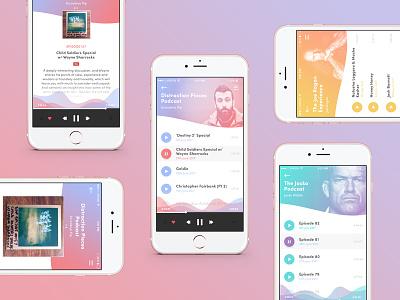 Podcast App Design app ui design mobile ui music app music podcast podcast app application design app design ux ui
