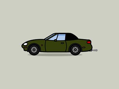 Mazda MX5 illustration car mazda mx5 mazda mk2 miata mx5