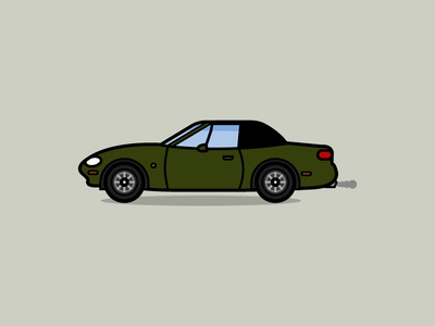 Mazda MX5 illustration car mazda mx5 mazda mk2 miata mx5