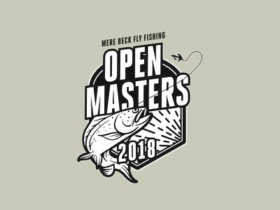 Fly Fishing Open Masters 2018 outdoors poster branding competition fishing fly fishing