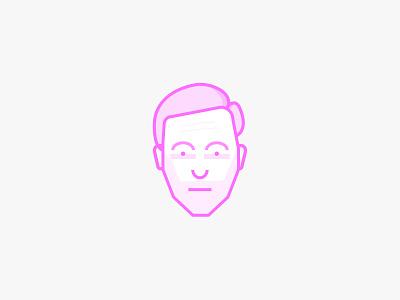 Self Portrait pink mono weight simple self portrait illustration