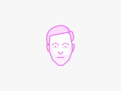 Self Portrait pink mono weight simple self portrait illustration