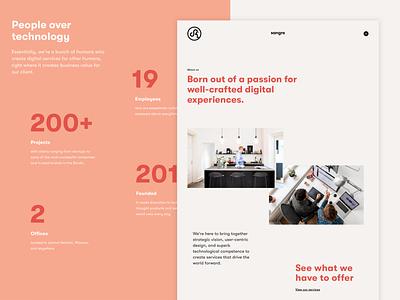 Sangre - About us design agency ui visual design website design aboutus