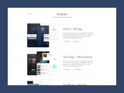 Portfolio On Personal Website
