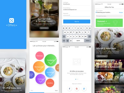 Offers App minimalist fashion food offers app discount app concepts ui ux android ios mobile app
