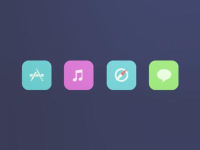 ios 7 again     flat ios 7 icons ios