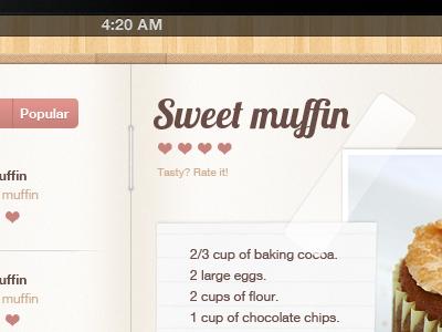 Muffins :) ipad book cook