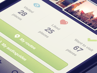 Profile screen button iphone