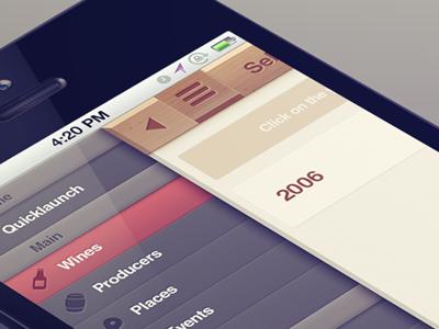 Side menu menu wood iphone navigation bar