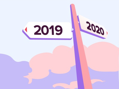 Chargemap retrospective 2019 sky illustration road signs