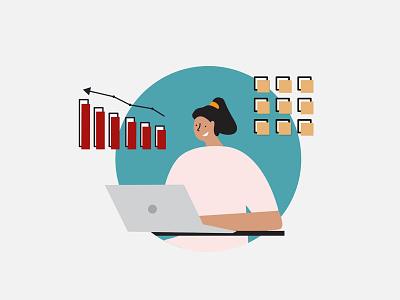 Analytics girl data engineers analytic icons illustrator spotillustration flat illustration vector art illustration art characters characterdesign design character zdravolina illustration