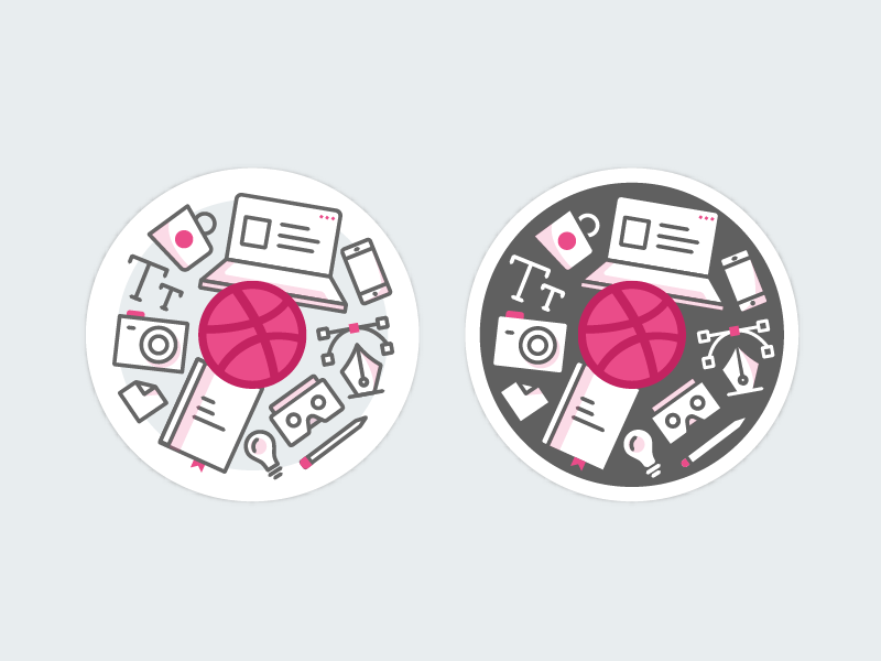 Dribbble Sticker creative icons design assets playoff mule sticker dribbble