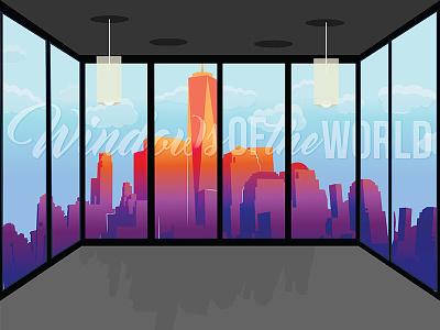 Windows of the World (Daytime) lights graphicdesign illustration views apartment landscape city windows window