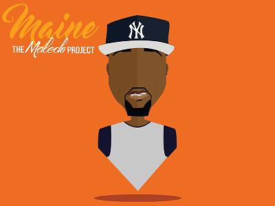 Maine of the Maledo Project logo graphic design profile avatar podcast illustration