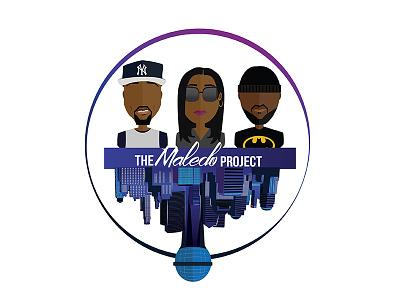 The Maledo Project Full Logo logo batman graphic design profile avatar podcast illustration