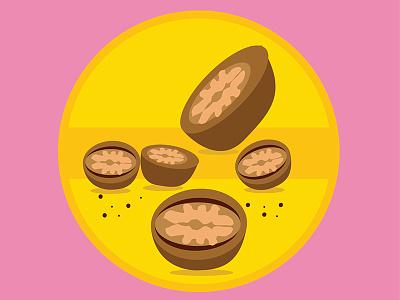 Walnuts health eat food peanuts logo illustration graphicdesign plants nuts walnuts