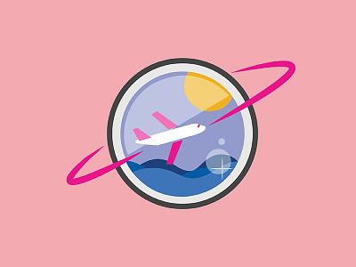 Travel  fish graphicdesign illustration logo airplane globe travel