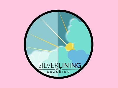 Silver Lining clouds sun silverlining rays sky logo illustration