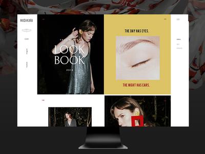Mashkara e-commerce awwwards webdesign sketch minimal slowfashion