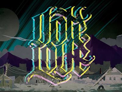 VOTE LOVE lettering vector typography illustration design