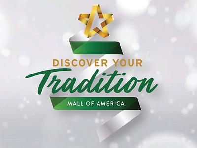 Mall of America Holiday Mark illustrator branding vector logo typography lettering illustration design