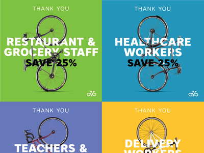 HANDSOME Cycles Essential Workers minimal typography lettering design