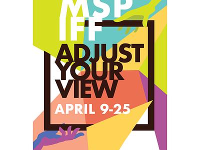 International Film Festival Poster minimal illustrator vector illustration typography lettering design