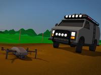 Drive Drone-5 vehicle driving 4x4 drone van motion cinema 4d motion graphics mograph illustration motion design c4d 3d cinema4d animation