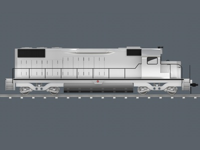 Locomotive side view