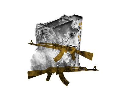 Mixed Media Ak47 destruction guns war terrorism ak47 media mixed
