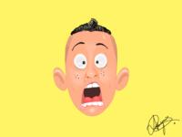 Fear face Emoji
