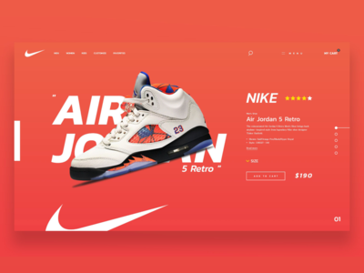 Nike Online Shopping Web Design