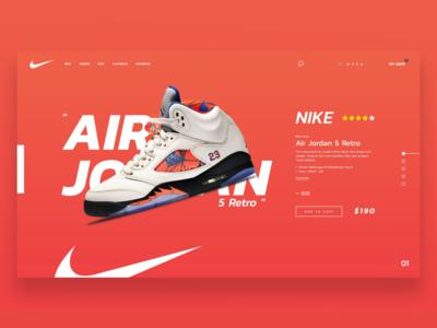 Nike Online Shopping Web Design