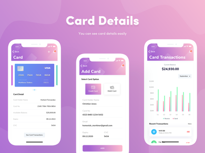 Interaction design for Card Details
