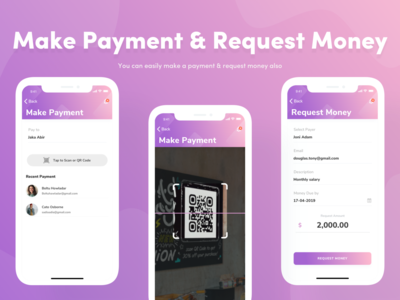 Make Payment & Request Money figma photoshop payment app appui design adobexd uiuxdesign visual design userinterfacedesign userexperiencedesign interaction design